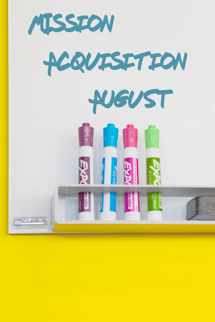 Mission Acquisition August