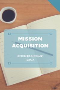 October Language Goals