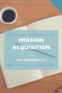 June Language Goals