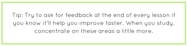 Tip: Ask for feedback